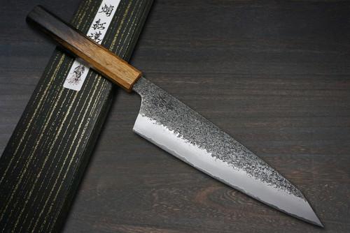 Sakai Takayuki Homura Guren Aogami 2 steel Japanese Chefs Kengata-Gyuto Knife 225mm with Urushi Lacquered Oak Handle