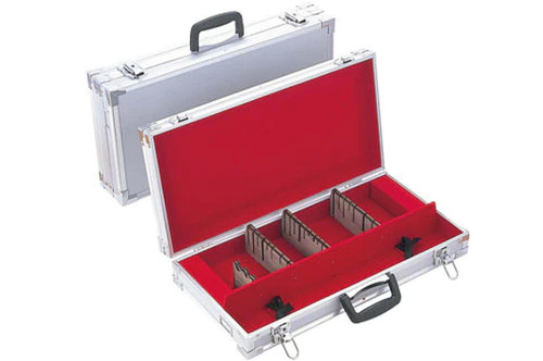 Professional Attache Case for Kitchen Knives Duralumin Silver Large