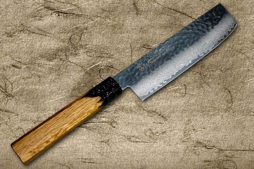 Sakai Takayuki 33-Layer VG10 Damascus Urushi Chefs NakiriVegetable 160mm with Japanese Lacquered Oak Handle KOKUSHIN