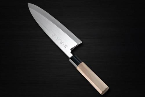 Sabun Ginsan Gingami No.3 steel Japanese Chefs Deba Knife 210mm
