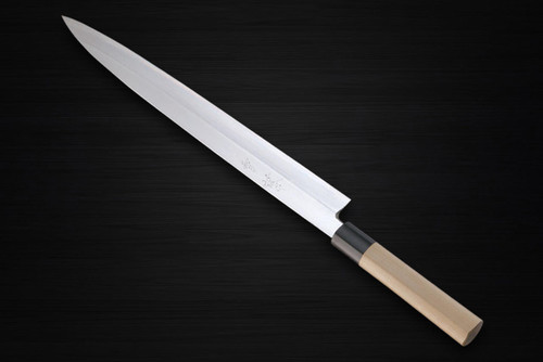 Yukifuji Chu-kasumi Gyokuhaku-ko White Steel Japanese Chefs YanagibaSashimi 360mm