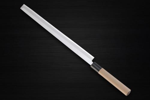 Yukifuji Chu-kasumi Gyokuhaku-ko White Steel Japanese Chefs TakohikiSashimi 330mm
