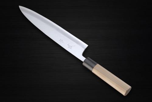 Yukifuji Chu-kasumi Gyokuhaku-ko White Steel Japanese Chefs Mioroshi Deba 240mm