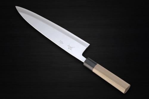 Yukifuji Chu-kasumi Gyokuhaku-ko White Steel Japanese Chefs Mioroshi Deba 270mm