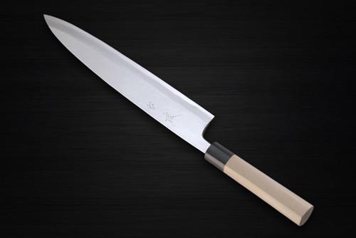 Yukifuji Chu-kasumi Gyokuhaku-ko White Steel Japanese Chefs Mioroshi Deba 300mm