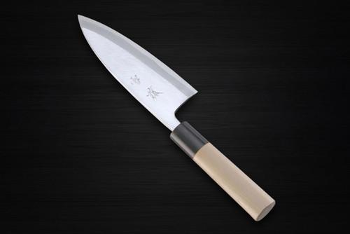 Yukifuji Chu-kasumi Gyokuhaku-ko White Steel Japanese Chefs Deba Knife 150mm