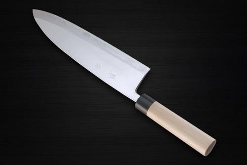 Yukifuji Chu-kasumi Gyokuhaku-ko White Steel Japanese Chefs Deba Knife 300mm