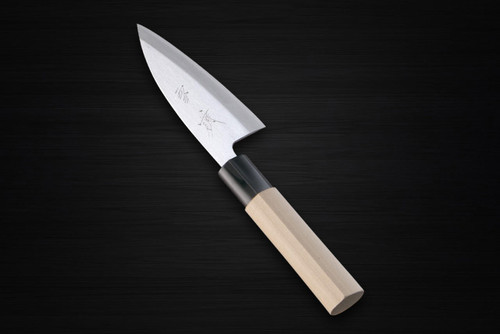Yukifuji Chu-kasumi Gyokuhaku-ko White Steel Japanese Chefs Aji-Kiri 105mm
