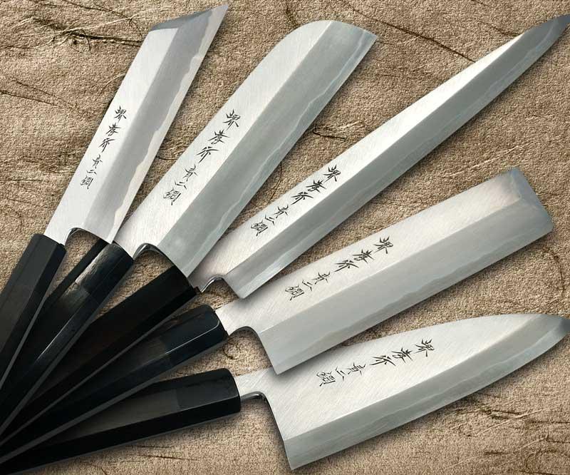 Sakai Takayuki Aoniko Blue 2 Steel Ebony Handle