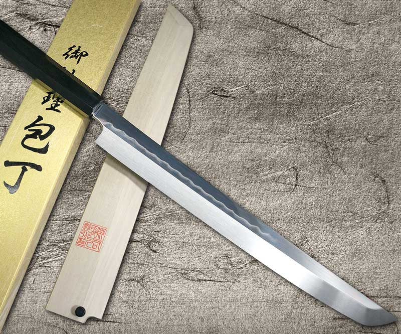 Goh Umanosuke Yoshihiro Honyaki Shirogami 2 Ebony