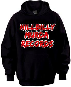 Hillbilly Murda Records hoodie black/red/white