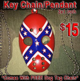Redneck Reaper Rebel Pendant w/ chain