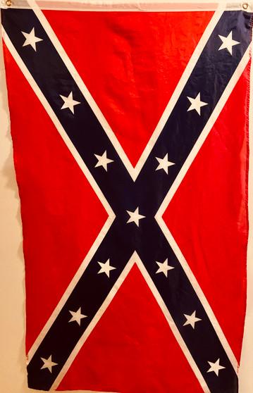 Mini Thin autographed Rebel Flag