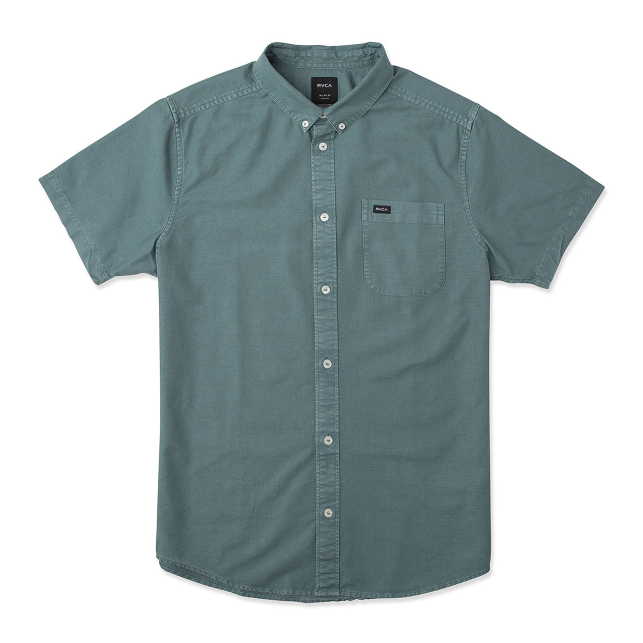 RVCA Mens Thatll Butter Short Sleeve Woven Button Front Shirt