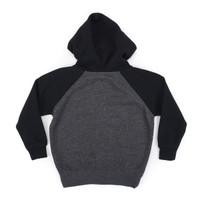 OG Single Color Toddler Zip Hood - Carbon/Black