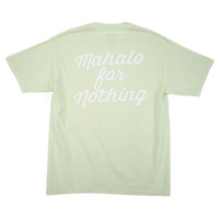 Mahalo For Nothing Tee - Key Bump Lime