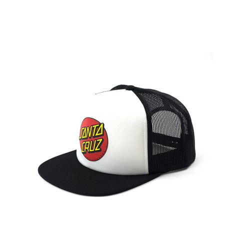 Classic Dot Youth Trucker - White/Black