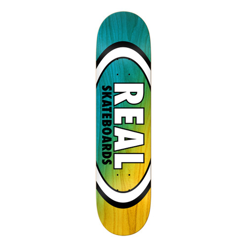 Team Angle Dipped Oval - Teal/Yellow - 8.25