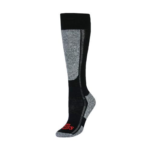 Women's Classic Mid Volume Sock - Black Heather - S