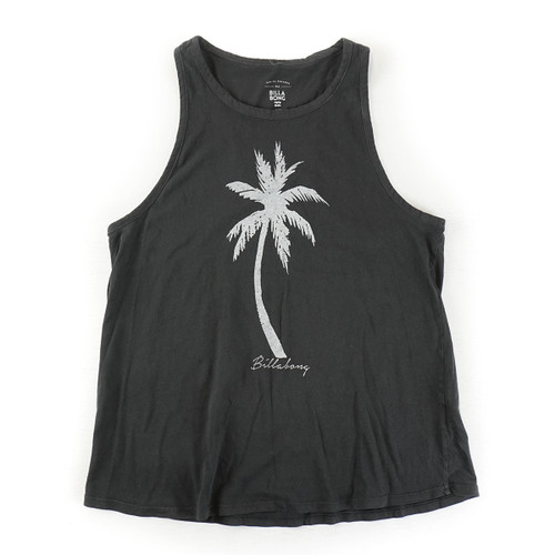 Palm Paradise Tank - Off Black