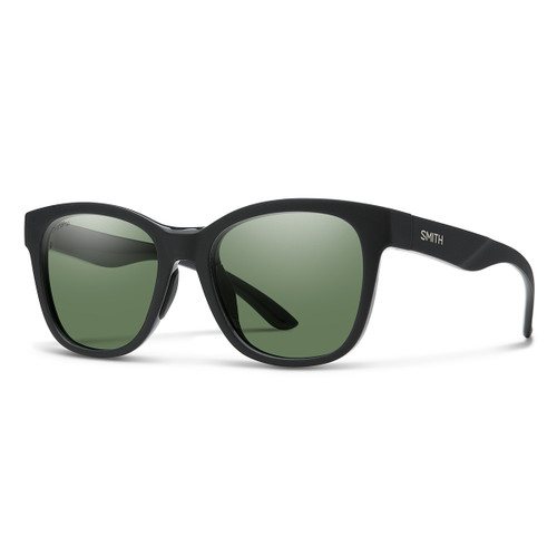 Caper - Matte Black - ChromaPop Polarized Gray Green