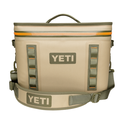 Hopper Flip 18 Cooler - Field Tan/Blaze Orange