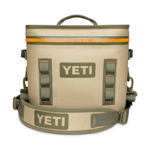 Hopper Flip 12 Cooler - Field Tan/Blaze Orange