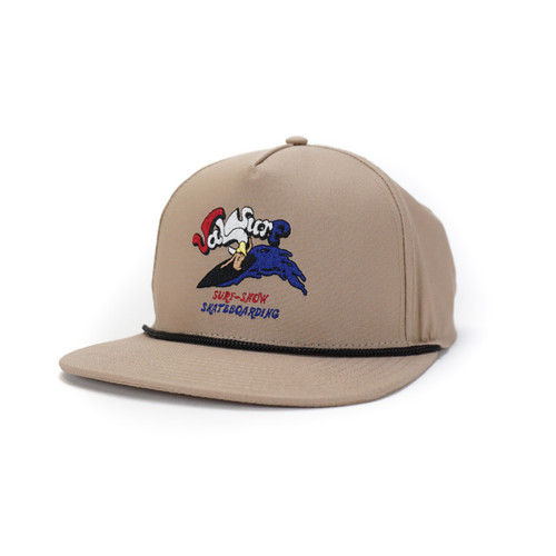 Vintage Surf Cotton Snapback - Khaki/Black - O/S