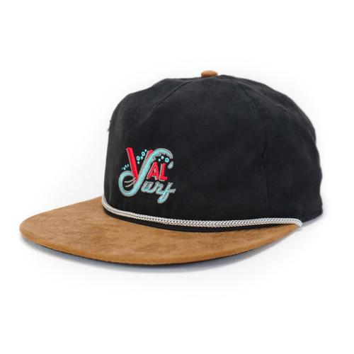 Valsurf OG Logo Suede Hat - Black/Tobacco Suede