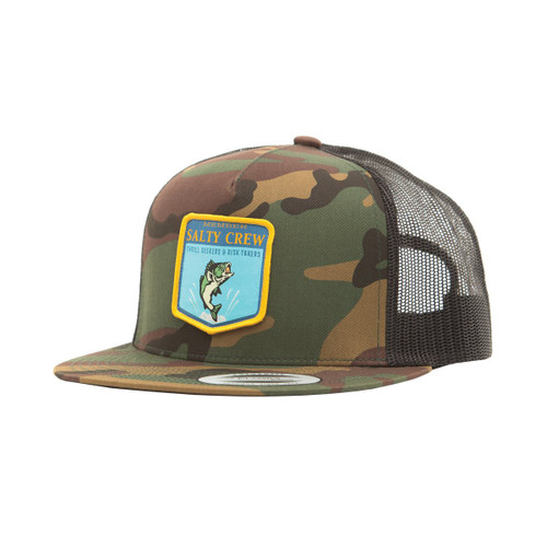 Bass Badge Trucker Hat - Camo
