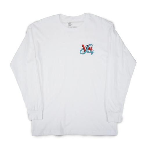 OG Logo Full Color LS Tee - White