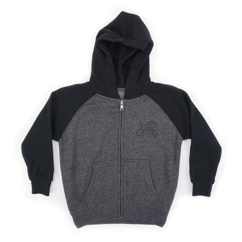 OG Single Color Toddler Zip Hood - Carbon/Black