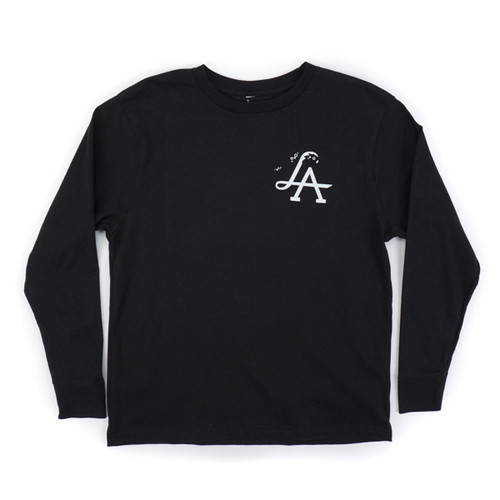 Youth LA Wave OG LS Tee - Black