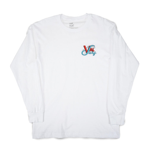 Youth OG Logo Full Color LS Tee - White