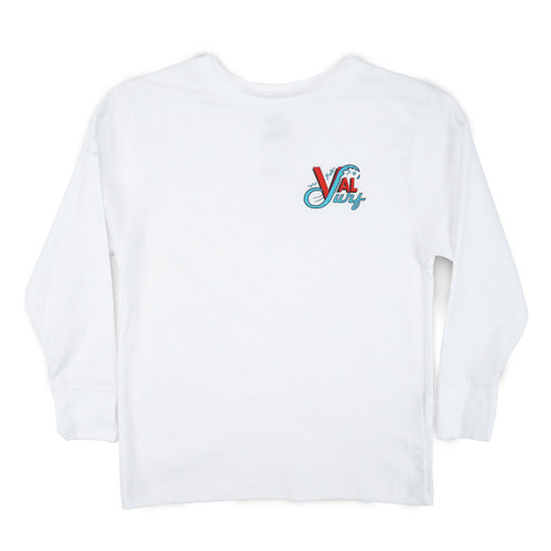 Toddler OG Logo Full Color LS Tee - White