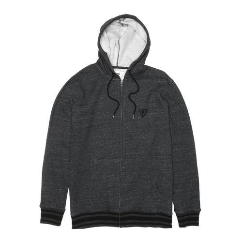 Established Zip Hoodie - Black Heather