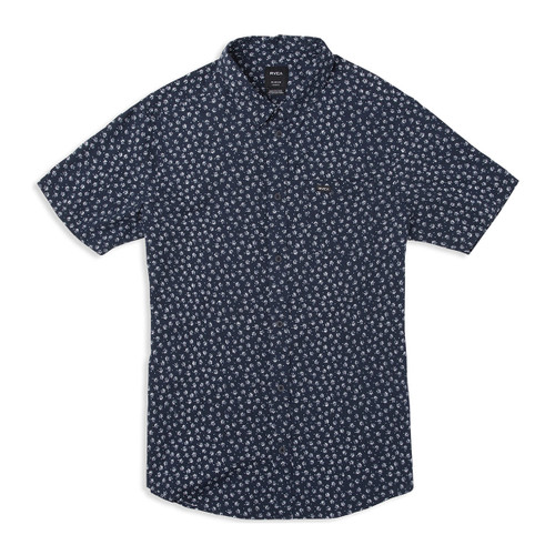 Boys Ficus Floral SS Woven - Federal Blue