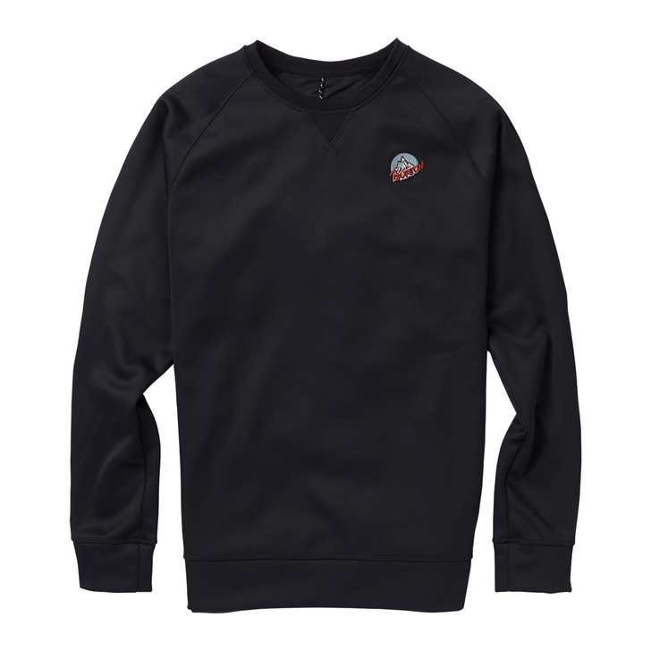 Crown Bonded Crew Retro Mountain - True Black