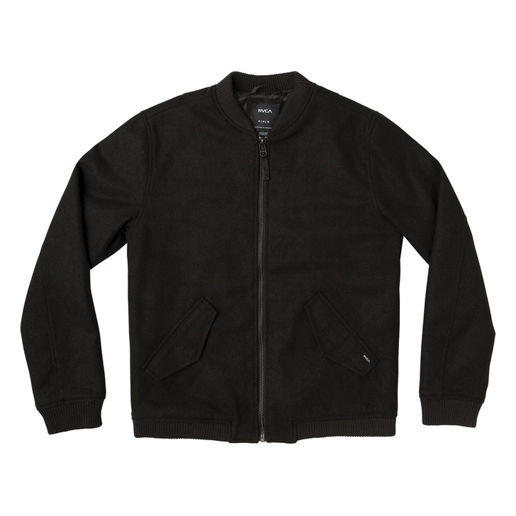 Collective Wool Bomber Jacket - RVCA Black