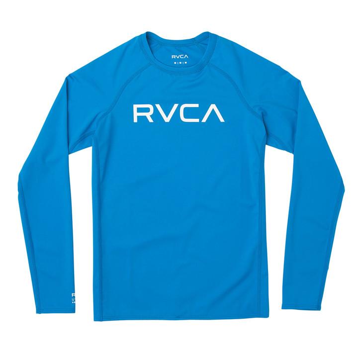 Boys' long sleeve RVCA Rashguard in Blue Cruz color