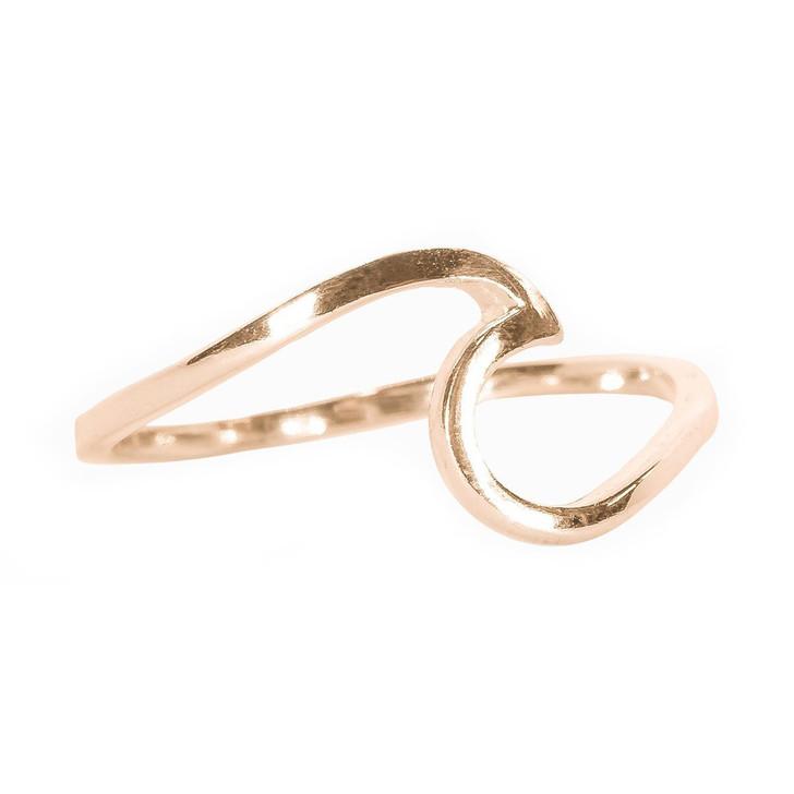 Wave Ring - Rose Gold