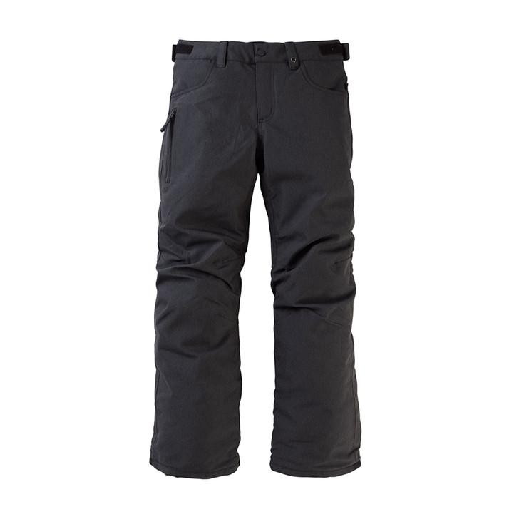 Front view of Burton Boys' Barnstorm Pant in black denim