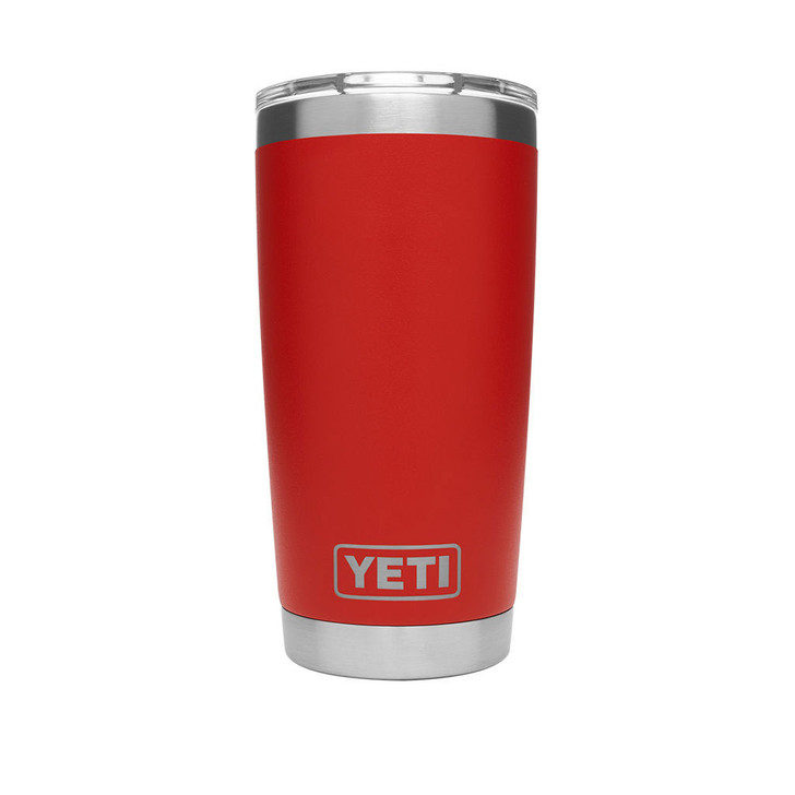 RAMBLER 20 OZ TUMBLER in Canyon red, front view