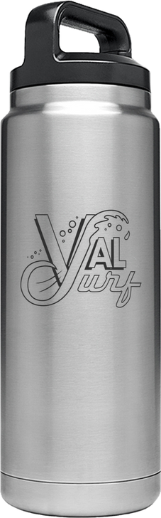 Rambler 26 oz Bottle Custom - Stainless Silver
