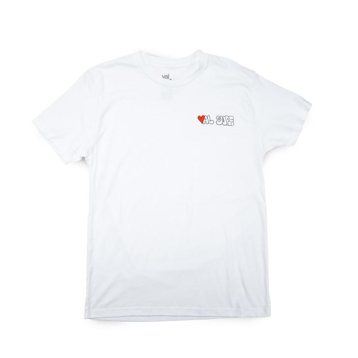 Heart Val Surf Tee - White