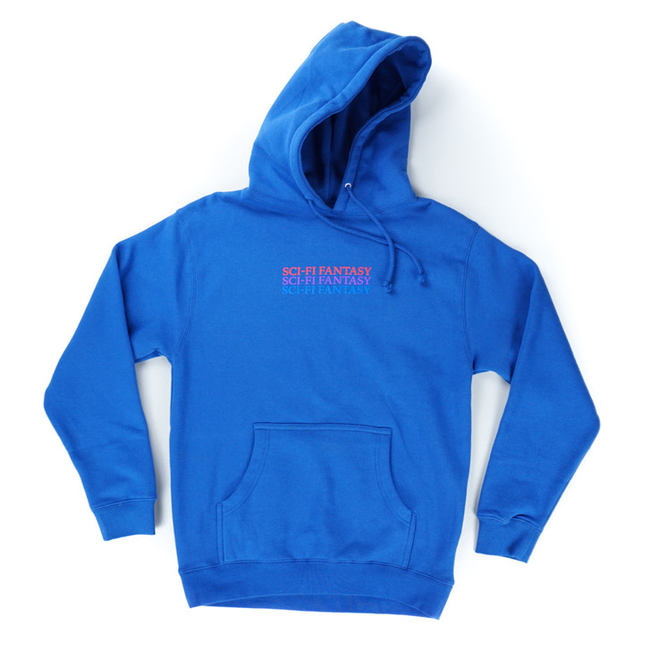 Triple Stacked Logo Hoodie - Royal Blue