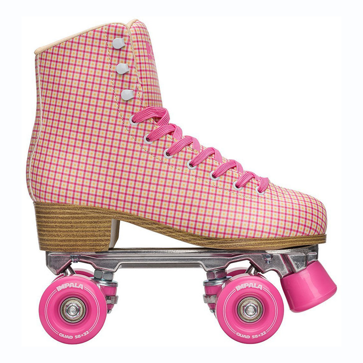 Impala Quad Skate - Pink Tartan
