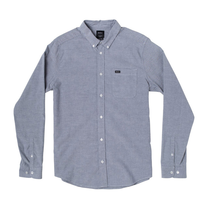 Boys That'll Do Stretch L/S Woven - Distant Blue