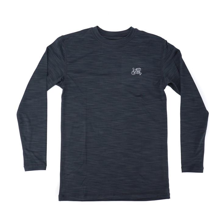 OG Logo Boys Hybrid L/S Sun Shirt - Charcoal