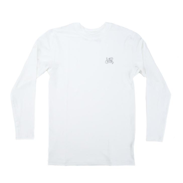 Boys OG Logo Hybrid L/S Sun Shirt - White